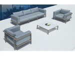 Marina - Sofa, Two Chairs and Coffee Table Patio Set