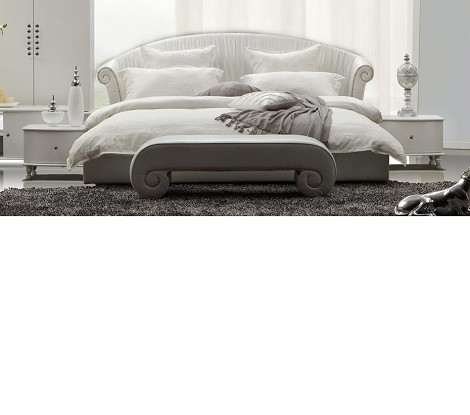 Melody - Leatherette Padded Modern Bed
