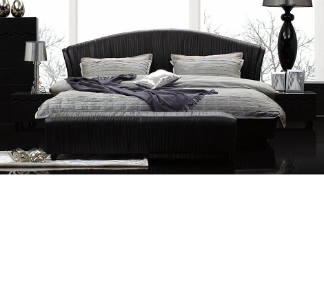 Player - Black Leatherette Bed