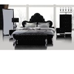 Prague - Transitional Black Leatherette Padded Bed