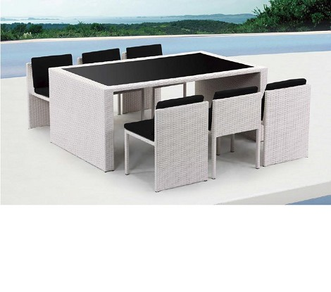 Taurus - Table and 6 Chair Patio Dining Set