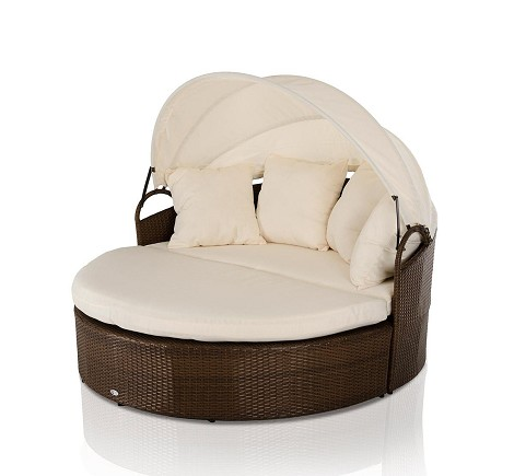 Cove - Round Patio Day Bed With Retractable Sun Cover