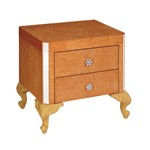 Regency Style Coffee Gloss Color Nightstand