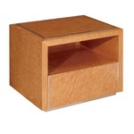 Deco Style Coffee Gloss Color Nightstand