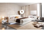 Volterra - Contemporary Floating Bed With Lights