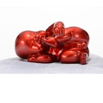 XD0054 - Modern Red Baby Playing Sculpture