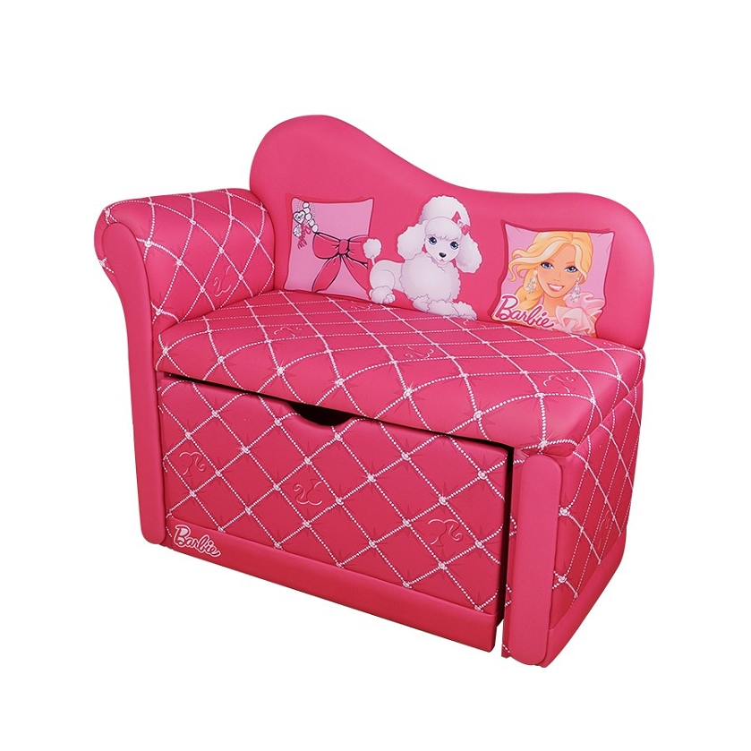Relatively DreamFurniture.com - Barbie Glam Storage Chaise Lounge WK27