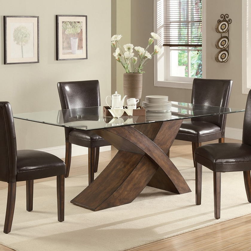 103051 Nessa X Base Dining Table, X Base Dining Room Table
