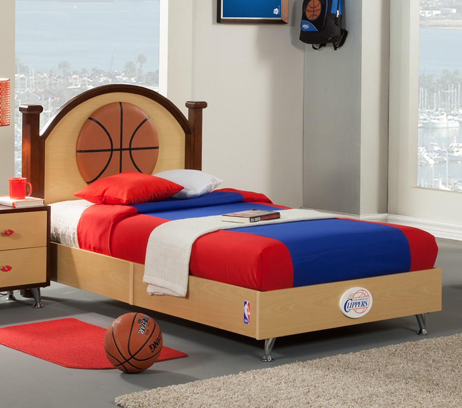 basketball bedroom furniture dreamfurniture nba basketball los angeles clippers 10180