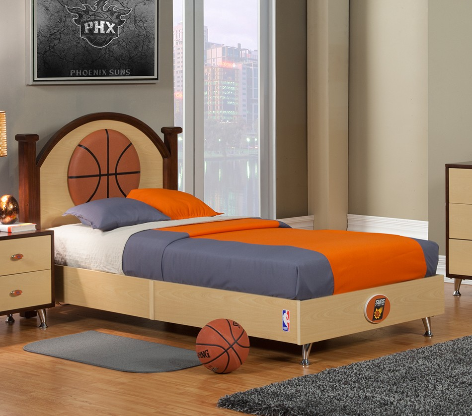 basketball bedroom furniture dreamfurniture nba basketball suns bed 10180
