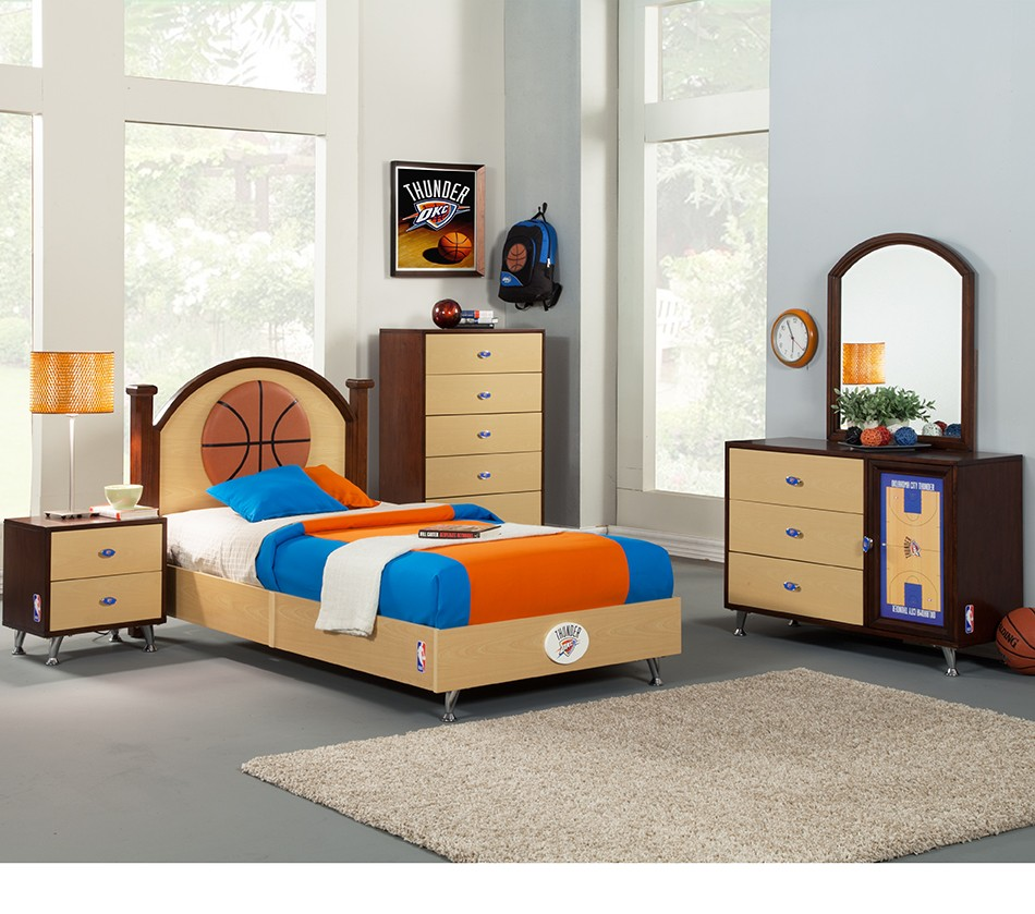basketball bedroom furniture dreamfurniture nba basketball oklahoma thunder 10180