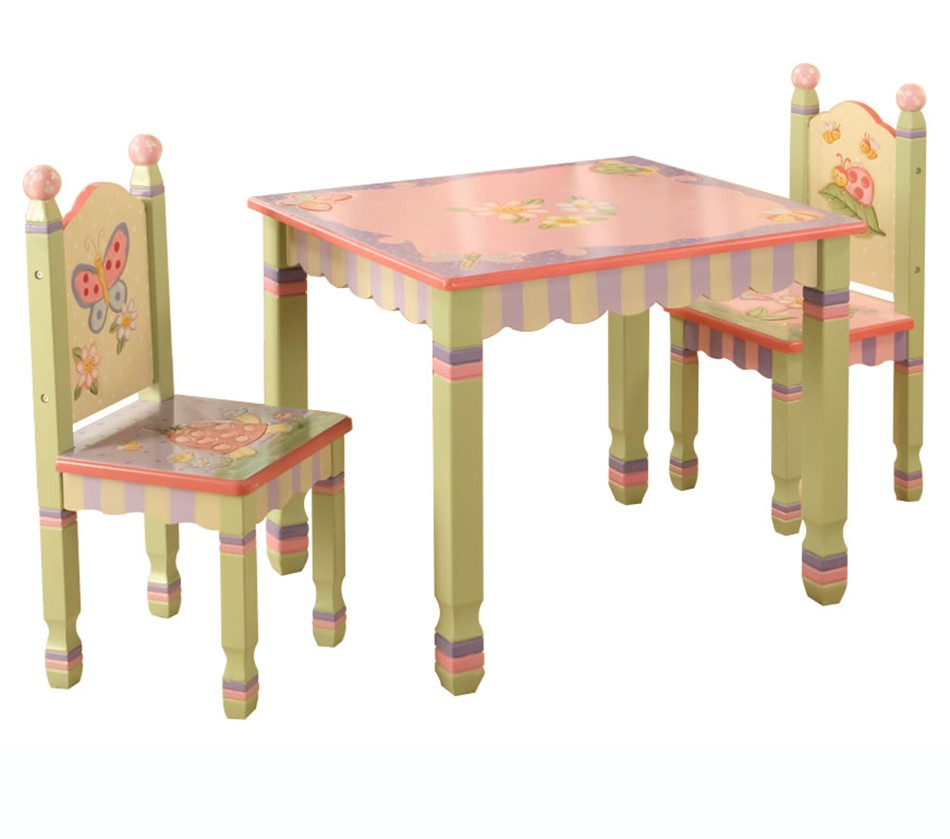 Teamson Kids Magic Garden Table And Set Of 2 Chairs