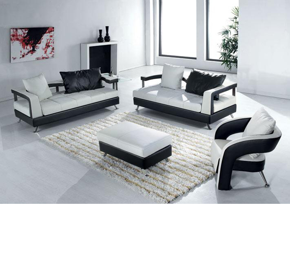 contemporary leather living room furniture dreamfurniture ev 5577 contemporary leather living 20474