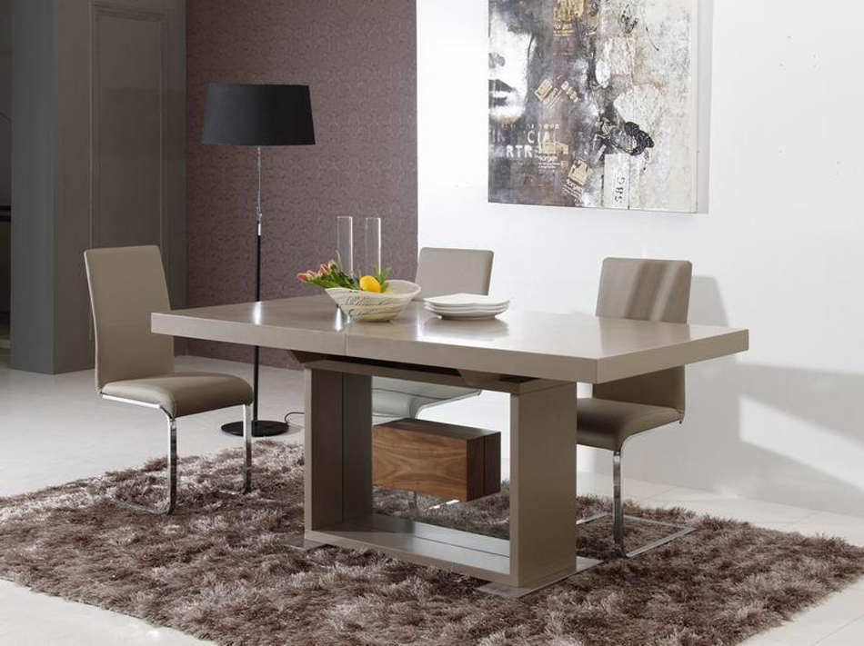 dreamfurniture - levi - contemporary dining table Contemporary Dining Table