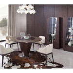 Margot - Modern Brown Oak Dining Table