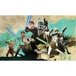 Star Wars Clone Wars Chair Rail Prepasted Mural 6' X 10.5' - Ultra-Strippable