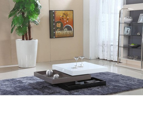 CJ-M062 - Tri Color Modern Coffee Table with Spinning Mechanism