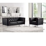 Divani Casa Bisby - Modern Tufted Leather Sofa Set