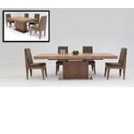 Zenith - Modern Walnut Extendable Dining Table