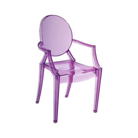 Baby Anime Chair  Transparent Purple (Set Of 2 )