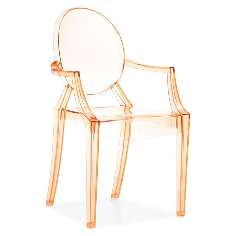 Anime Dining Chair Transparent Orange (Set Of 4 )