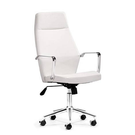 Holt High Back Office Chair White Pu