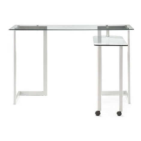Thrower Desk Clear Glass