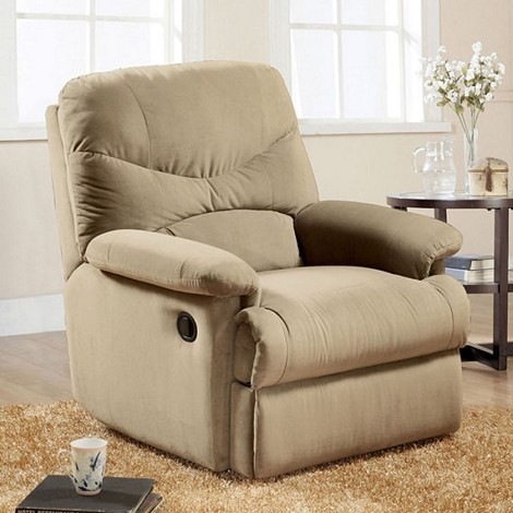 00626 Beige Finish Microfiber Recliner