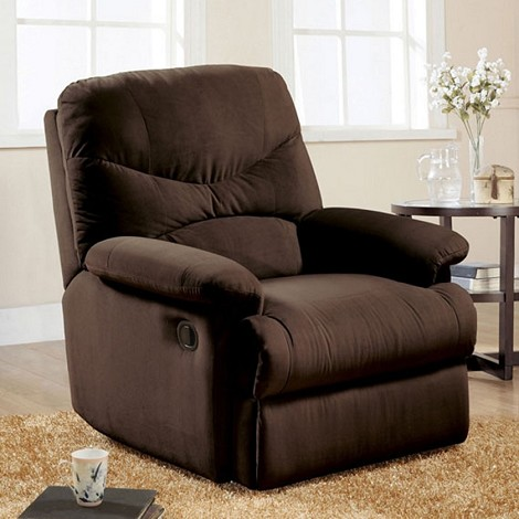 00632 Chocolate Finish Microfiber Recliner