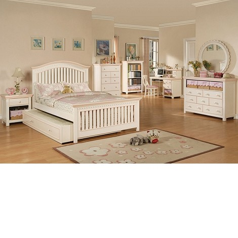 00750F Crowley Bedroom Set, Cream And Peach Finish