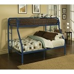 02053 Blue Finish Twin/Full Bunk Bed