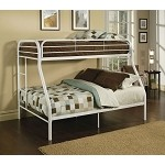 02053 White Finish Twin/Full Bunk Bed