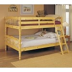 02290 Natural Finish Twin/ Twin Conventible Wooden Bunk Bed
