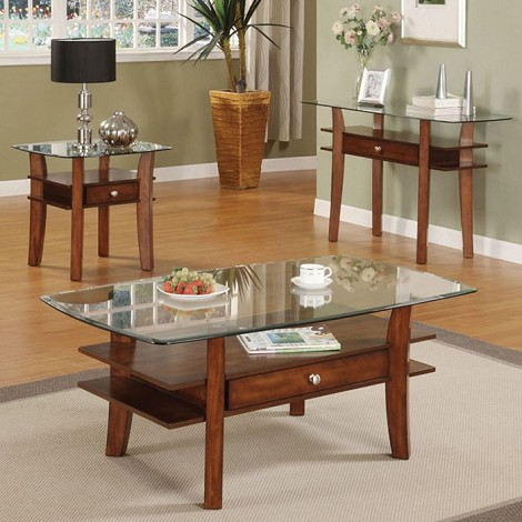 16230 3pc SET Coffee & End Table Set