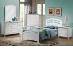 19155 San Marino White Finish Bedroom Set