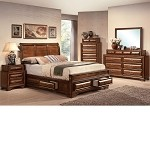 Konance Brown Cherry Finish Bedroom Set