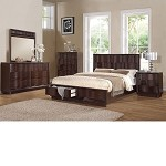 Travell Walnut Finish Bedroom Set