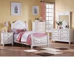 Athena White Finish Bedroom Set