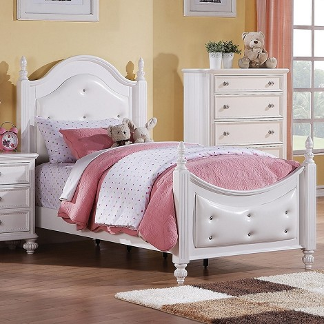 Athena White Finish Bed
