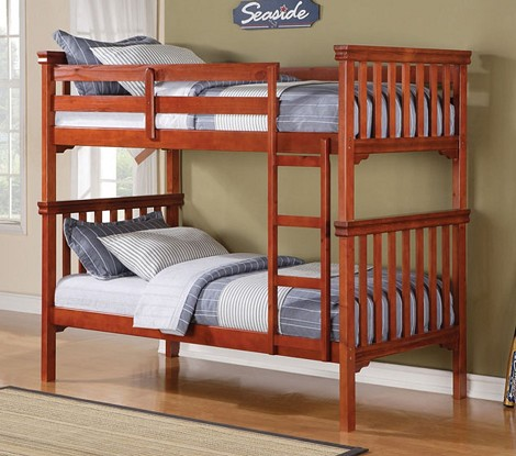 Louis Philippe Cherry Finish Twin/Twin Bunk Bed Set
