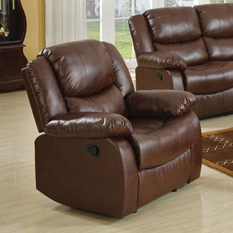 Moreno Brown Top Gain Leather Match Power Motion Recliner