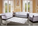 50165 Camden White Bonded Leather Match Sofa Set