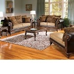 50340 Fairfax Chocolate & Splurge Sofa Set