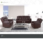 50520 Sherman Dark Brown Bonded Learther Motion Sofa Set