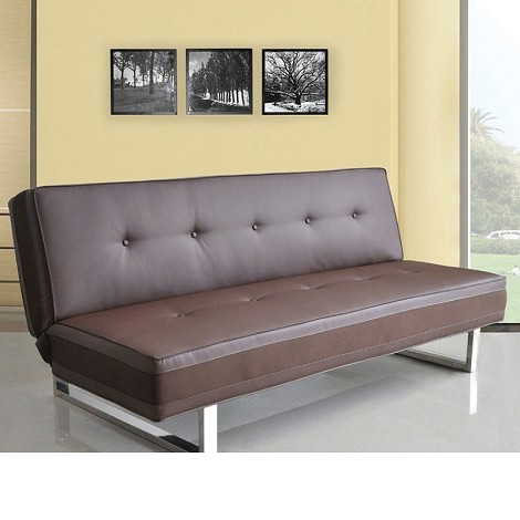 57008 Mancord Brown PU Adjustable Sofa