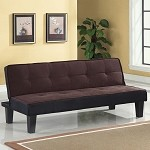 57028 Hamar Chocolate Microfiber Adjustable Sofa