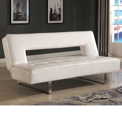 57060 Ewan White PU Adjustable Sofa