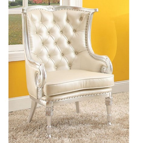 Pawnee Silver & Beige Accent Chair