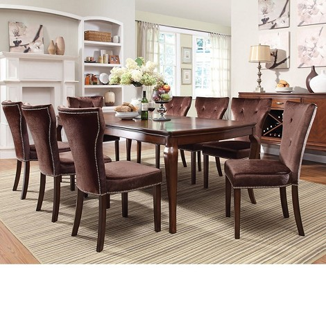 Kingston Brown Cherry Finish Dining Table Set