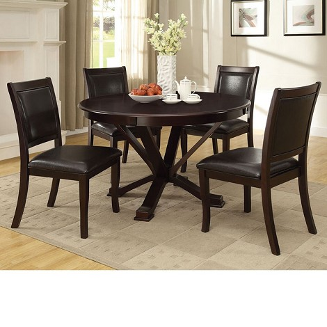 Osbert Espresso Finish Dining Table Set